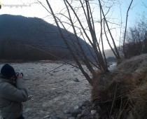 Personal self-portrait by the river Chisone Val Chisone Piedmont Italy